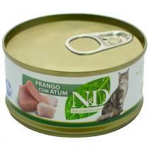 Ração Farmina ND Úmida de Frango e Atum para Gatos - 70 g -