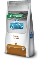 Ração Farmina Vet Life Diabetic para Gatos Adultos Diabéticos - 400 g -