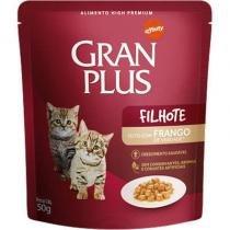 Ração Guabi Gran Plus Sachê Frango para Gatos Filhotes - Guabi
