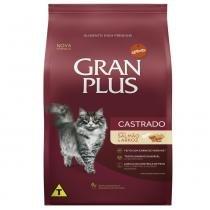 Ração Guabi Gran Plus Salmão e Arroz para Gatos Castrados Adultos -
