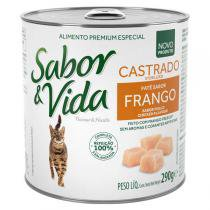 Ração Guabi Sabor e Vida Lata Frango para Gatos Castrados -