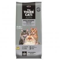 Ração Hercosul Three Cats Especial Salmão e Frango para Gatos Castrados -