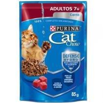 Ração Nestlé Purina Cat Chow Adultos 7+ Sachê Carne ao Molho - Nestlé Purina