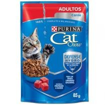 Ração Nestlé Purina Cat Chow Adultos Sachê Carne ao Molho -