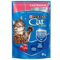 Ração Nestlé Purina Cat Chow Castrados Sachê Carne ao Molho - Nestlé Purina
