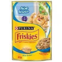 Ração Nestlé Purina Friskies Sachê Peixe Branco ao Molho -