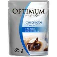 Ração Optimum Sachê Frango para Gatos Adultos Castrados -