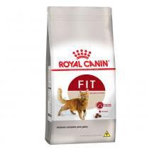 Ração Royal Canin Fit para gatos adultos com peso ideal, atividade física moderada e que possuem acesso a ambientes externos - 400 gr -