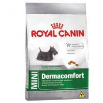 Ração Royal Canin Mini Dermacomfort para cães adultos e maduros de porte pequeno com tendência a irritações de pele ecoceira - 1 kg -