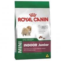 Ração Royal Canin Mini Indoor Junior para filhotes de cães de pequeno porte que vivem em ambientes internos - 7,5 kg -