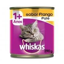 Ração Whiskas Lata Patê de Frango - 290 g - Whiskas