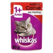 Ração Whiskas Sachê Carne para Gatos Adultos - Whiskas