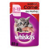 Ração Whiskas Sachê Carne para Gatos Filhotes -