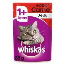 Ração Whiskas Sachê Jelly Carne para Gatos Adultos -