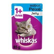 Ração Whiskas Sachê Jelly Peixe para Gatos Adultos -