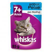 Ração Whiskas Sachê Sabor Peixe ao Molho para Gatos Adultos -