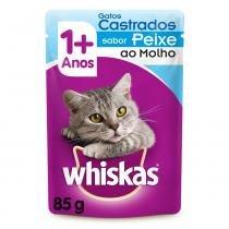 Ração Whiskas Sachê Sabor Peixe ao Molho para Gatos Castrados - Whiskas