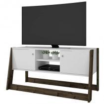Rack Bancada para TV até 42 Pol. BR376 2 Portas Branco/Carvalho - BRV -