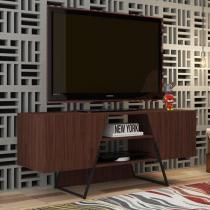 Rack Bancada para TV até 42 Pol. BR377 2 Portas Castanho/Preto - BRV -
