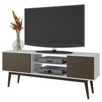Rack Bancada para TV até 50 Pol. BPI11 2 Portas Branco/Cacau - BRV -