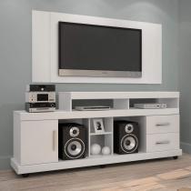 Rack Bem Ti Vi com Painel para TV até 42 Polegadas Jaspe  Branco - Jcm móveis