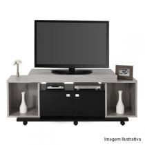 Rack Cedro para TVs de até 47 Polegadas Cinza/Preto - Caemmun - Caemmun
