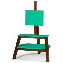 Rack com Painel Bowie Maxima Cacau/Verde Anis -