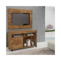 Rack com painel para tv até 42pol gurupi candian nobre - jcm movelaria - Jcm móveis
