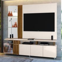 """Rack Com Painel para TV Até 55"""" Donna 15857 Off White/Demolição - Dj móveis"""