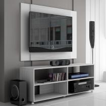 Rack com Painel para TV Decapê e Branco BR 261-104 BRV - BRV Móveis