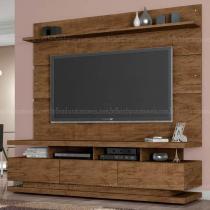 Rack Com Painel Vivare - Gold Wood - Teka-Vanilla - Germai
