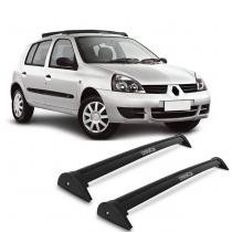 Rack de Teto Travessa L World Clio Hatch 1996 a 2016 Preto Suporta 45KG 4 Portas - Cristal car