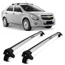 Rack de Teto Travessa L World Cobalt 2012 2013 Prata Suporta 45KG - Cristal car