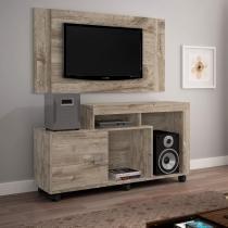 Rack Jari com Painel para TV de até 42 Polegadas Jaspe  Grigio - Jcm móveis