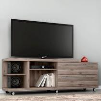 Rack levare teca wood -  com rodizios -  para tvs de até 72 polegadas  germai -