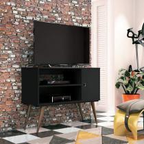 Rack para TV até 32 Polegadas 1 Porta Reale Retrô EDN Móveis Preto Touch -