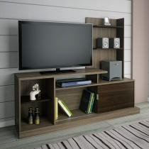 Rack para TV até 49 Polegadas 1 Porta Phoenix Atualle Móveis Malbec Acetinado/Coffee Acetinado -