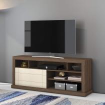 Rack para TV até 65 Polegadas 1 Porta Damasco Belaflex Malte/Off White -