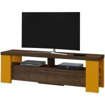 Rack para TV de até 50 Polegadas Albany Artely - Canela com Amarelo -