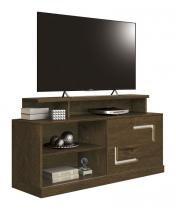Rack para TV Fiore Nogal Rústico com Off White - Edn Móveis -