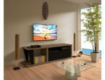 Rack para TV Fusion até 56 Nogal e Preto Multivisão - Multivisão