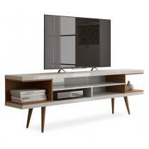 Rack para TVs até 60 polegadas Axel, Branco Gloss com Natural - Delacasa