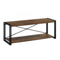 Rack Wooden Preto e Marrom 120 cm - Mobly