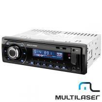 Rádio automotivo multilaser talk p3214 bluetooth com entrada auxiliar e usb -