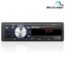 Rádio Automotivo One Com Leitor USB, SD Mp3, FM e Aux. P3213  Multilaser - Multilaser