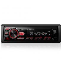 Rádio automotivo player pioneer mvh-298bt mp3 usb bluetooth auxiliar frontal 23wx4 -