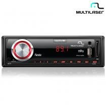 Rádio Automotivo Wave Fiesta Com 7 Cores de LED, FM, USB P3265 - Multilaser - Multilaser