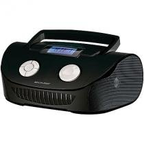 Radio boombox 15w rms fm/usb/sd entrada p2 preta multilaser sp182 -