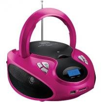 Radio boombox 20w rms cd/usb/sd/fm/aux rosa e branca sp179 - Multilaser