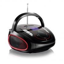 Rádio Boombox Bluetooth 15W Bivolt Preto/Vermelho SP186 - Multilaser - Multilaser